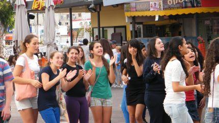 תלמידי עמל ערכו הפגנה מול בניין עיריית נהריה