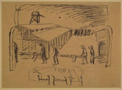 תצוגה מרישומיו של יהודה בקון תיפתח ביום השואה במוזיאון בית לוחמי הגטאות